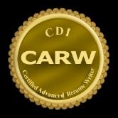 certified advanced resume writer logo